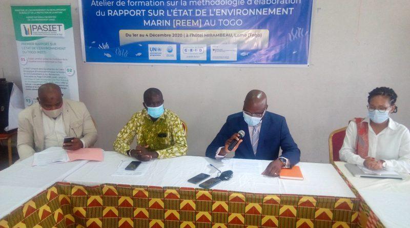 Rapport sur l'état de l'environnement marin au Togo : Formation des parties prenantes sur la méthodologie d'élaboration