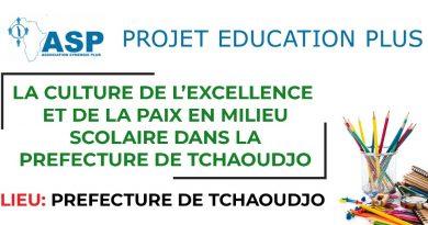 TCHAOUDJO: Adhésion totale des élèves autour de la phase 2 du projet «Culture de l'Excellence et de la Paix en milieu scolaire»