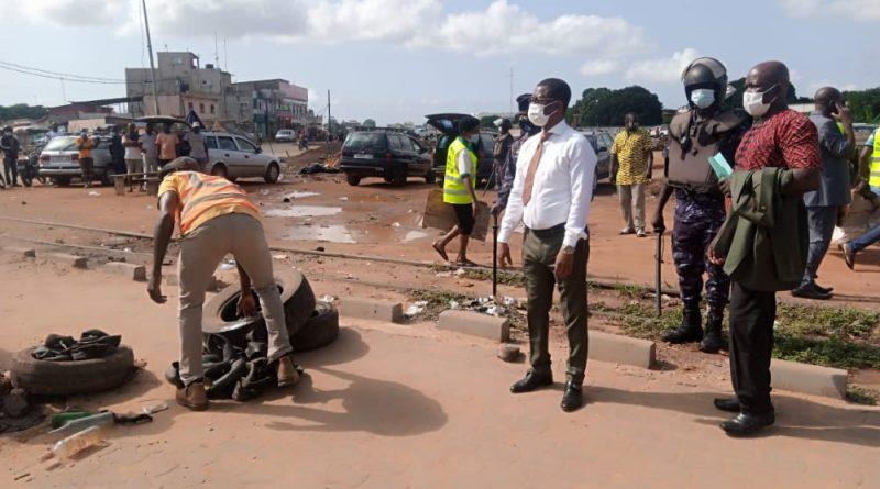Togo: L'opération de désengorgement des trottoirs dans la commune Golfe 5 effective